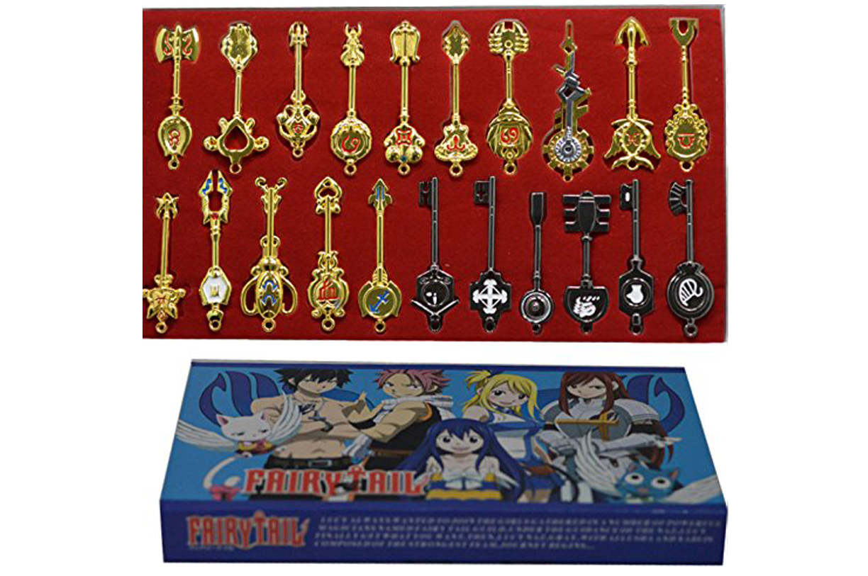 Vendor's photo of fake Fairy Tail key collection