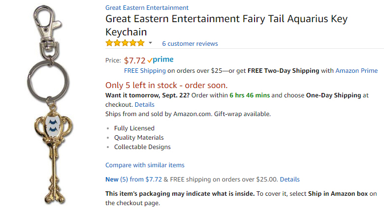 A screencap of an Amazon listing of a Great Eastern Entertainment key