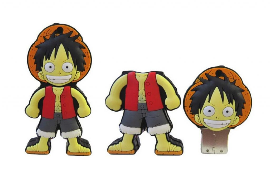A fake One Piece Luffy USB using the same art as WJCES' fake Luffy keychain