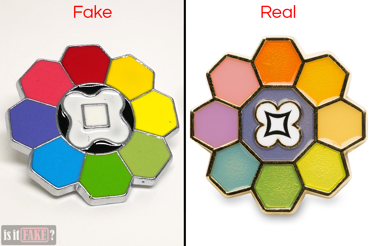 Fake vs. official Rainbow Badges