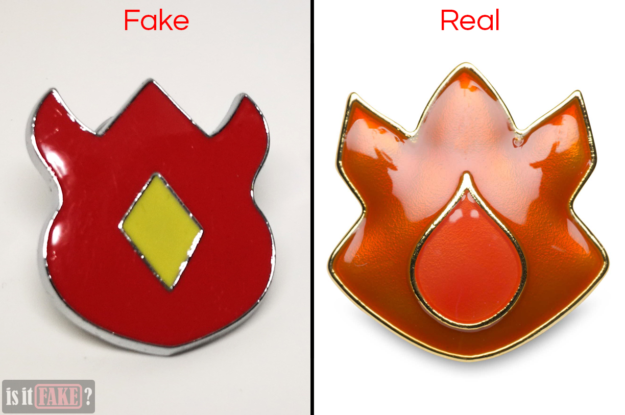 Fake vs. official Volcano Badges