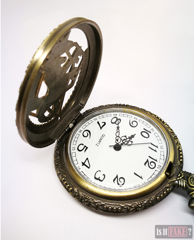 Fake Fullmetal Alchemist pocket watch, opened