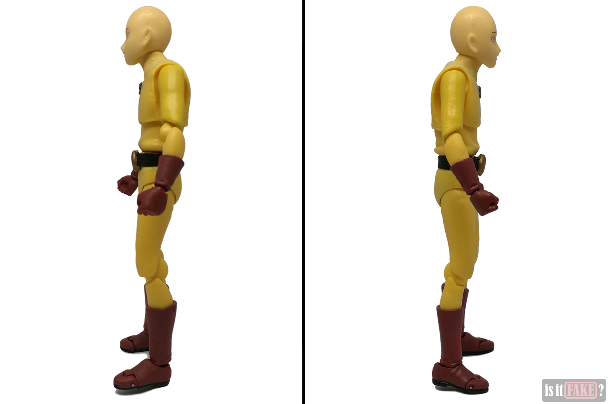 Fake Figma One Punch Man figure, side views