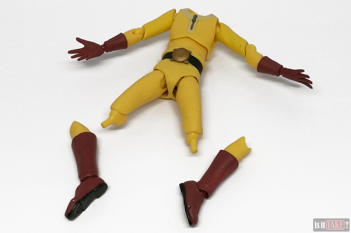 Fake Figma One Punch Man figure with loose legs detached