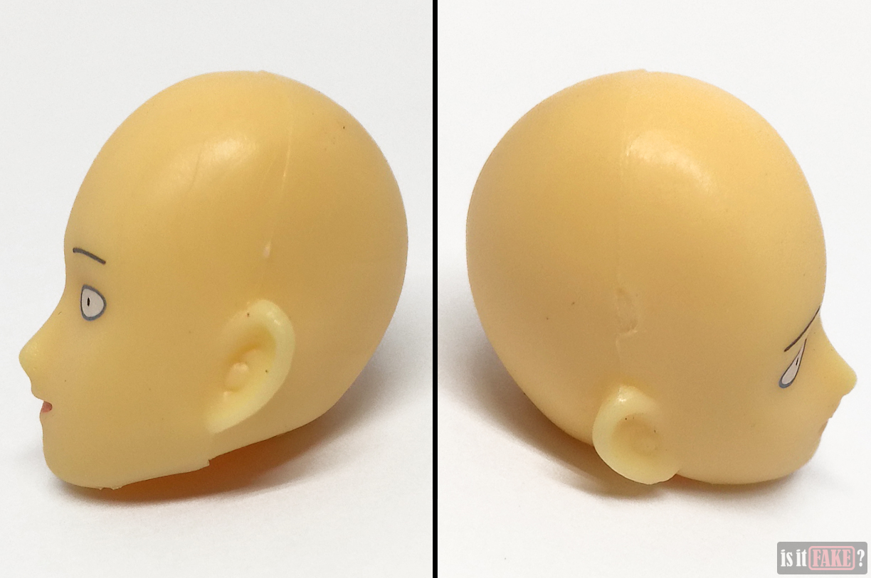 Fake Figma One Punch Man figure's default head, side views