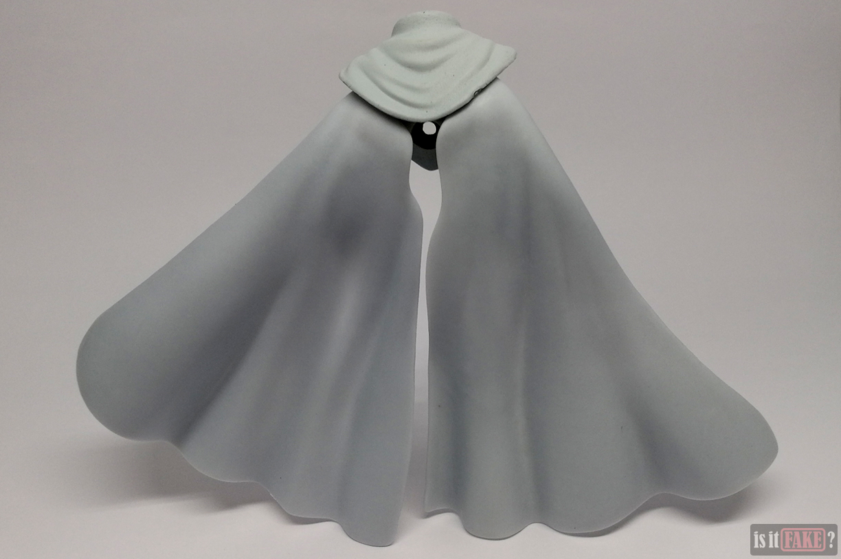Fake Figma One Punch Man figure's cape accessory, back view