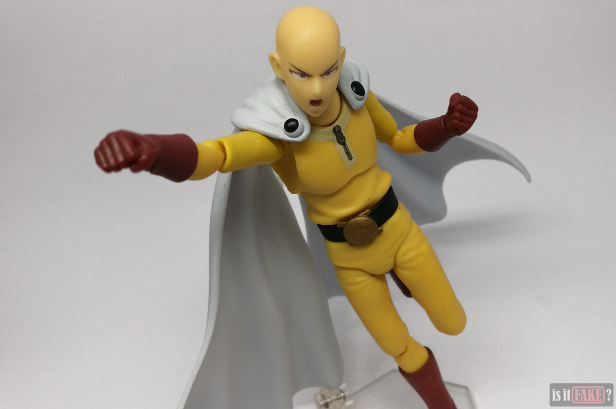 Fake Figma One Punch Man figure with accessories, posed