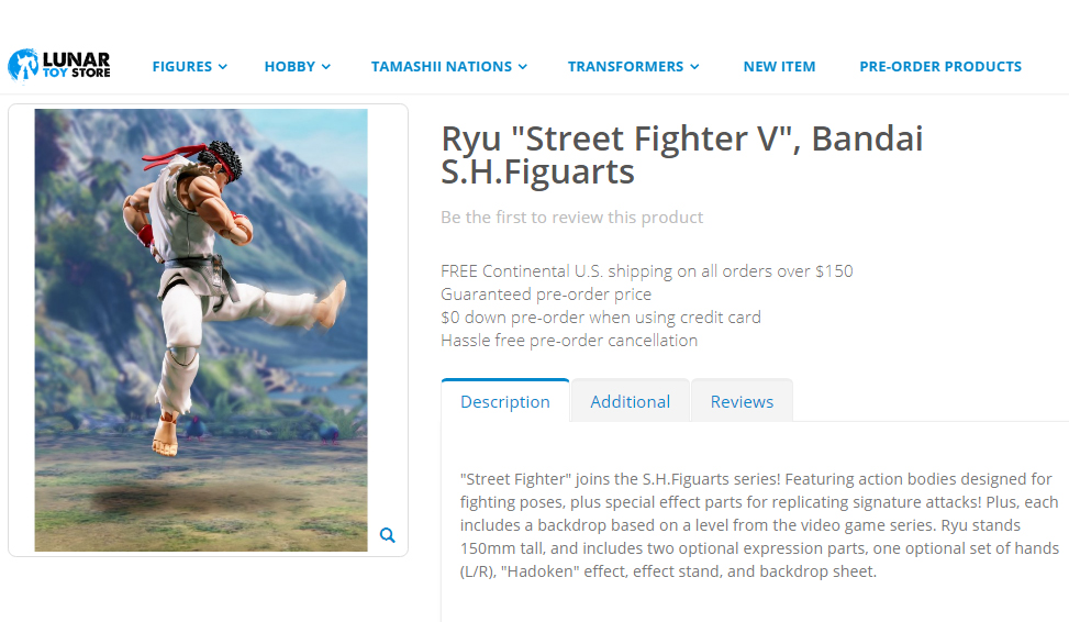 SHFiguarts Ryu on Lunar Toy Store