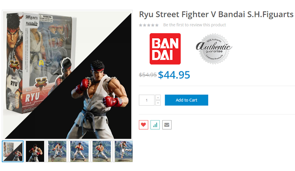 SHFiguarts Ryu on AnimeBLVD