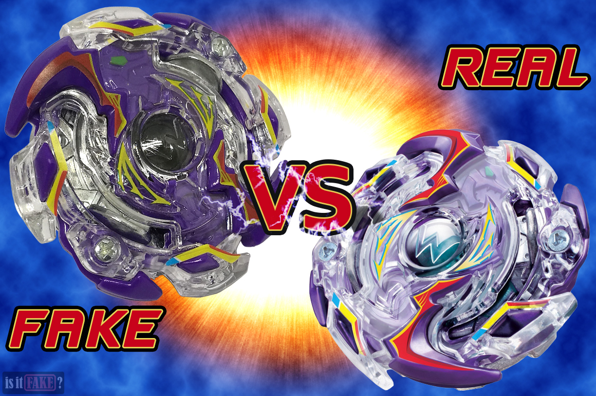 Fake vs. official Beyblade Burst B-41 Wild Wyvern V.O
